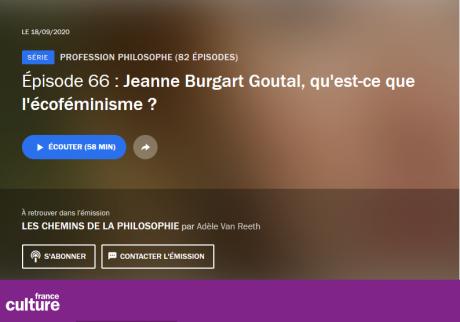 Jeanne Burgart Goutal, qu'est-ce que l'écoféminisme ?