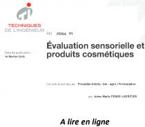 Évaluation sensorielle et produits cosmétiques
