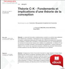 Théorie C-K Fondements et implications d'une théorie de la conception