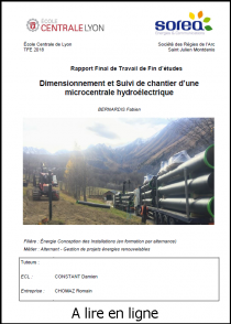 Dimensionnement et Suivi de chantier d'une microcentrale hydroélectrique