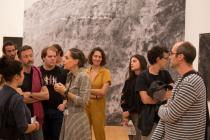 Visite de l'expo Bernar Venet