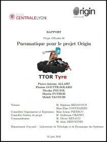 Pneumatique pour le projet OriginProjet d'études N° 80