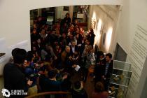 """Visite de l'exposition """"L'Information entre art et science"""""""