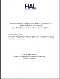 Characterization of Space and Time-Dependence of3-Point Shots in Basketball
