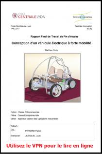 Conception d'un véhicule électrique à forte mobilité