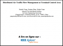 Distributed Air Traffic Flow Management at Terminal Control Area