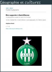 Être supporter à Saint-Étienne