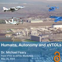 Humans, Autonomy, and eVTOLs