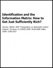 Identification and the Information Matrix: How to Get Just Sufficiently Rich?