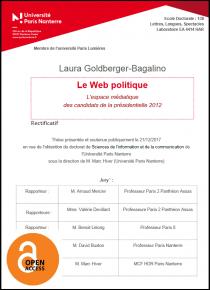 Le Web politique : l'espace médiatique des candidats de la présidentielle 2012