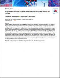 Preliminary study on crosswind aerodynamics for a group of road race cyclists