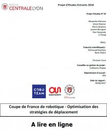 Coupe de France de robotique : Optimisation des stratégies de déplacement