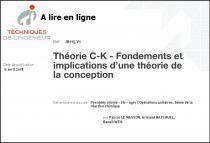 Théorie C-K - Fondements et implications d'une théorie de la conception